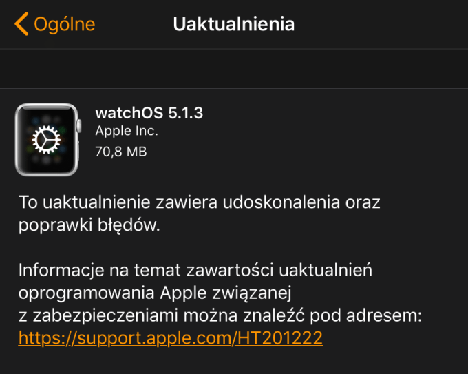 watchOS 5.1.3 (update OTA)