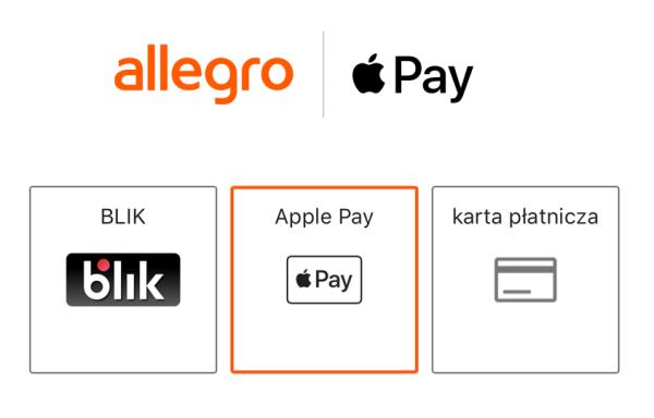 W aplikacji Allegro można już płacić za pomocą Apple Pay