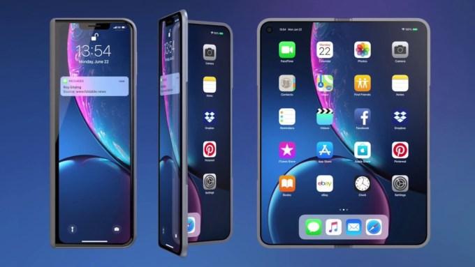 Koncepcja składanego iPhone'a Fold
