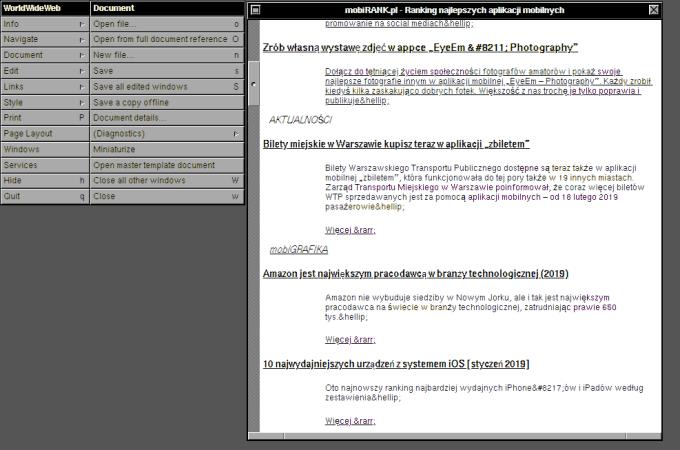 Tak wyglądałby serwis mobiRANK.pl w 1990 roku
