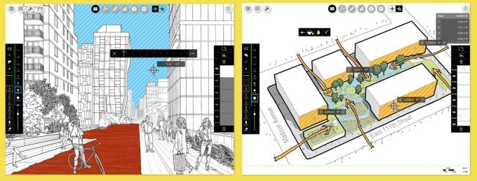 Screen z aplikacji mobilnej Morpholio Trace - Sketch CAD