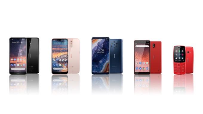 Linia smartfonów Nokia z 2019 roku
