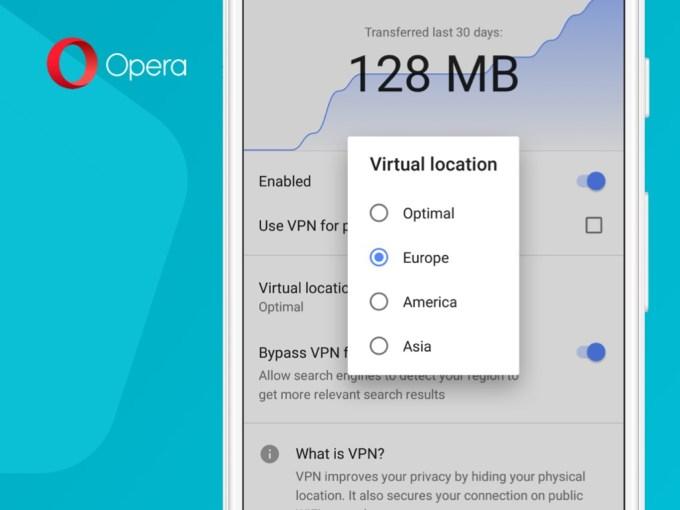 Ustawienie lokalizacji VPN w przeglądarce Opera