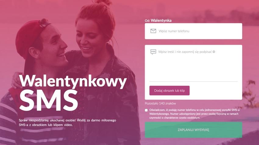 Walentynkowy SMS - bezpłatna bramka SMS