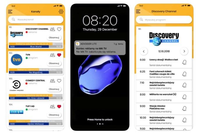 Aplikacja mobilna Advoider Lite