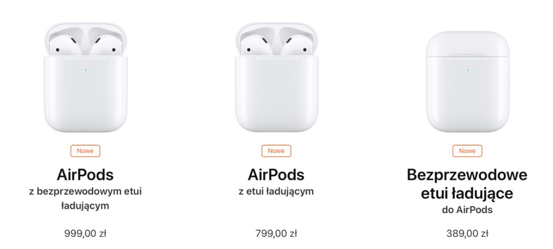 Ceny słuchawek AirPods 2 w Polsce