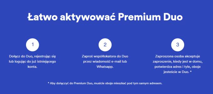 Jak aktywować plan Premium Duo w Spotify?