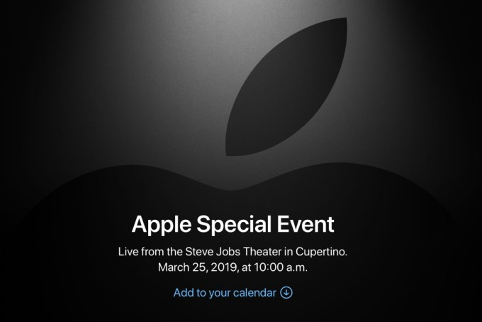 Apple Special Event online (marzec 2019)
