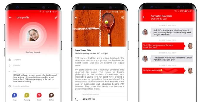 Screen z aplikacji mobilnej Findbuddy