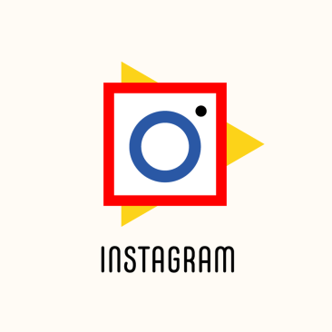 Logo Instagram (styl Bauhaus) fot. 99design