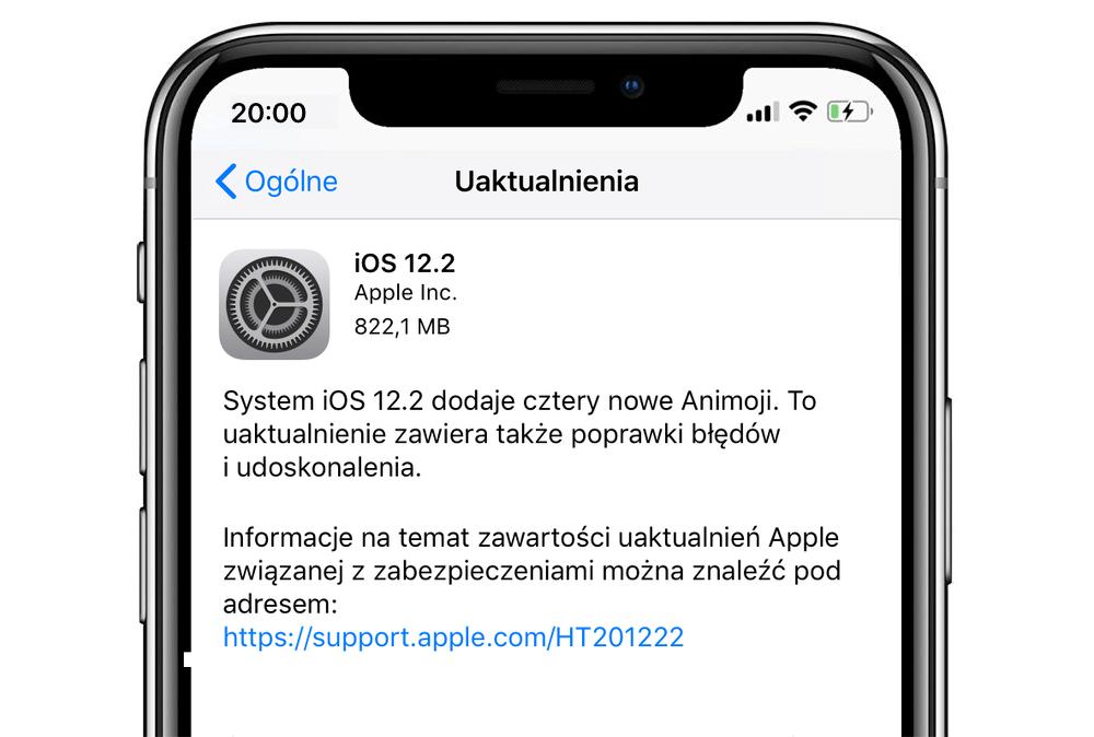 iOS 12.2 update (iPhone)