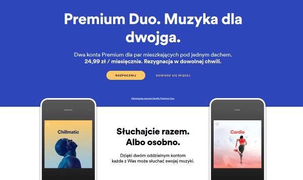 Spotify wprowadza plan Premium Duo – nową subskrypcję dla dwojga