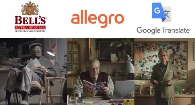 Reklamy z dziadkiem: Bell's (2014), Allegro (2016), Google (2019)