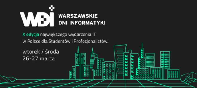Warszawskie Dni Informatyki (WDI 2019) - banner i info