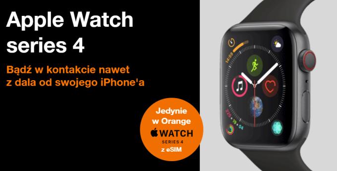 Apple Watch Series 4 z eSIM w Orange Polska