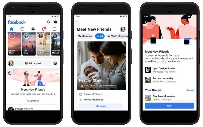 Facebook mobile app redesign 92019)