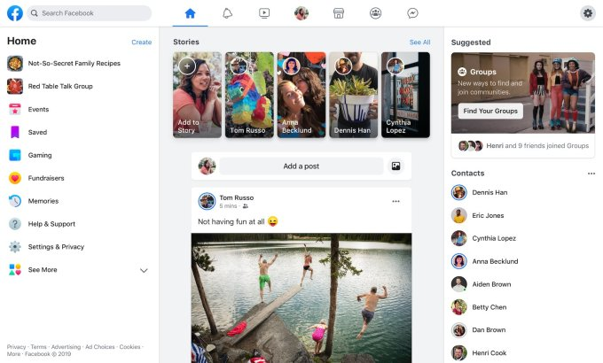 Facebook WWW redesign
