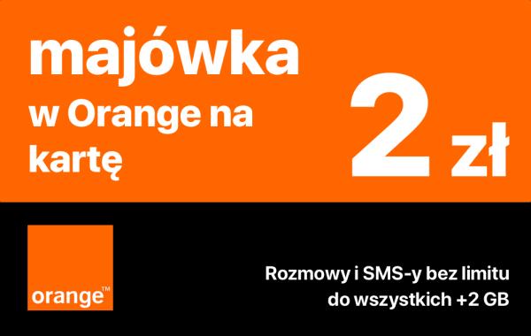 2 GB, rozmowy i SMS-y na majówkę w Orange za 2 zeta