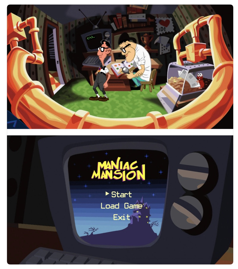 Maniac Mansion e grze Day of the Tentacle Remastered (easter egg)