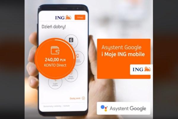 """Aplikacja """"Moje ING"""" korzysta z funkcji Asystenta Google'a"""