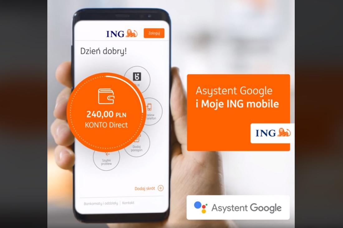 Asystent Google w aplikacji mobilnej Moje ING