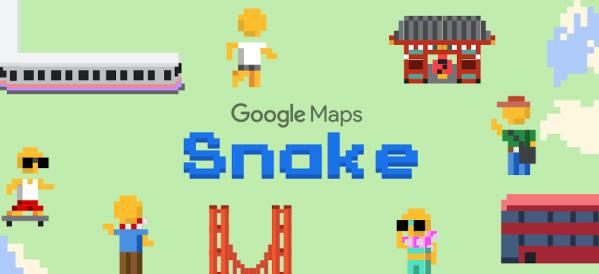 W Mapach Google'a zagrasz dziś w kultową grę Snake z okazji Prima Aprilis