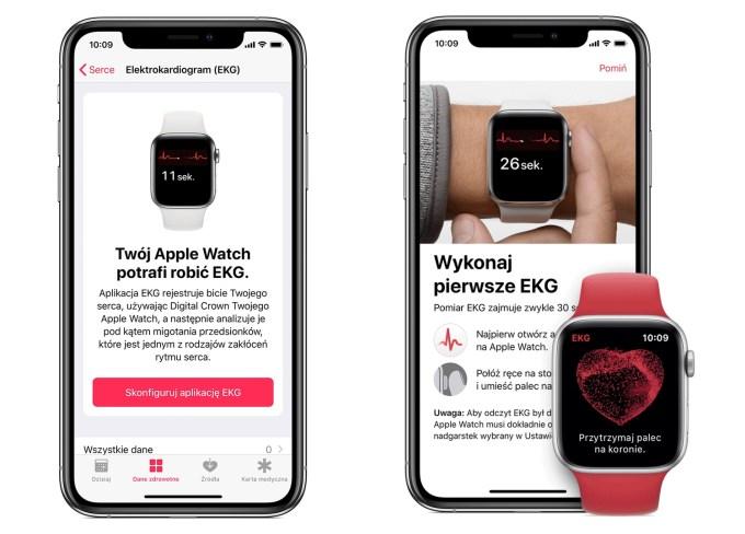 EKG Apple watch Series 4 w Polsce (watchOS 5..2.1)