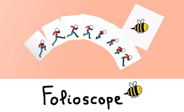 """Animacje jak na rogach zeszytów z aplikacją """"Folioscope"""""""