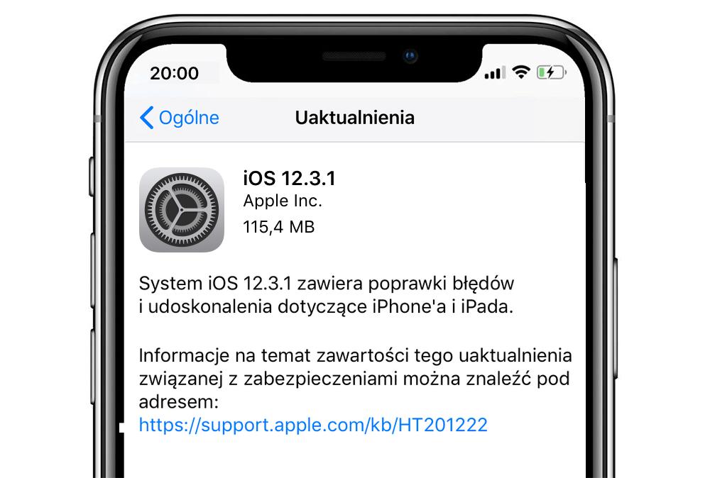 iOS 12.3.1 (uaktualnienie)