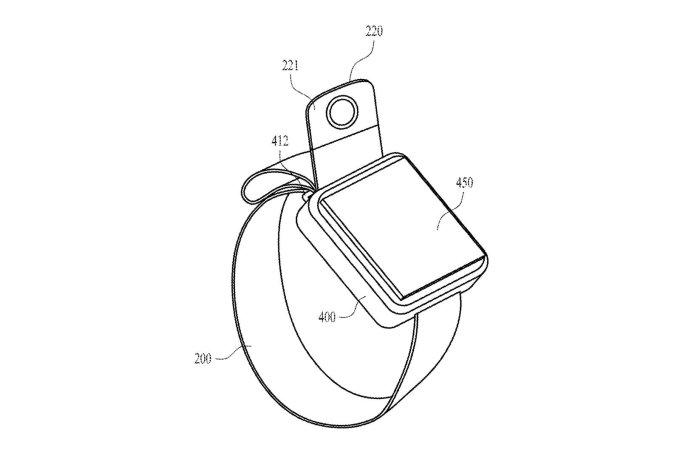Apple Watch z kamerą w pasku (patent)