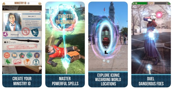 "Zrzuty ekranu z gry: ""Harry Potter: Wizards Unite"""
