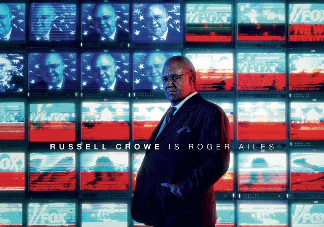 "Russel Crowe jako Roger Ailes w serialu ""Na cały głos"" (2019)"