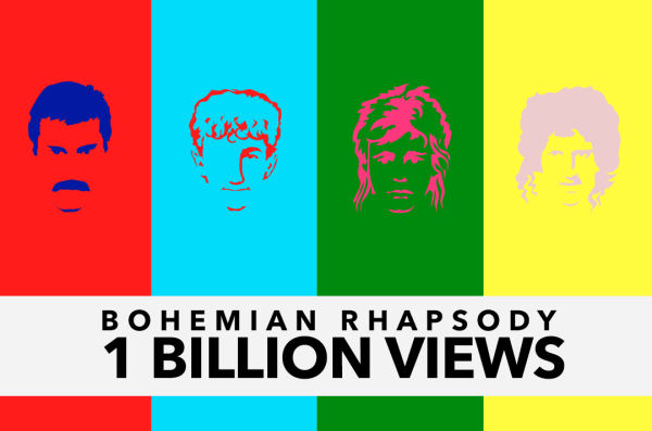 """""""Bohemian Rhapsody"""" osiąga miliard odtworzeń na YouTubie"""
