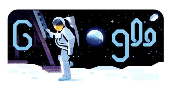 Michael Collins z Apollo 11 opowiada o lądowaniu na Księżycu w Google Doodle