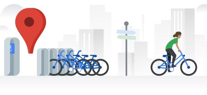 Rowery w Google Maps