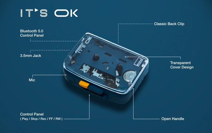 IT'S OK Bluetooth Cassette Player
