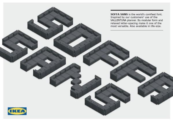 "Kanapowa czcionka ""Soffa Sans"" od sklepu IKEA"