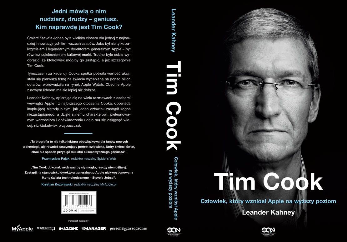 """Okładka książki: """"Tim Cook. Człowiek, który wzniósł Apple na wyższy poziom"""""""