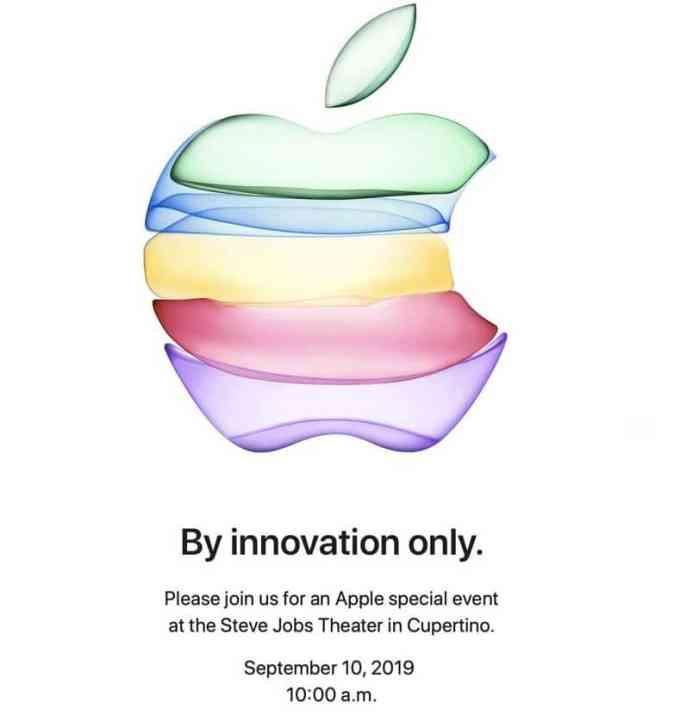 Zaproszenie Apple Special Event (By innovation only) - 10 września 2019 r.