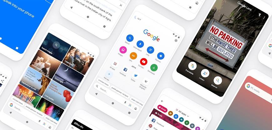 Lekka wyszukiwarka mobilna Google Go (ekrany)