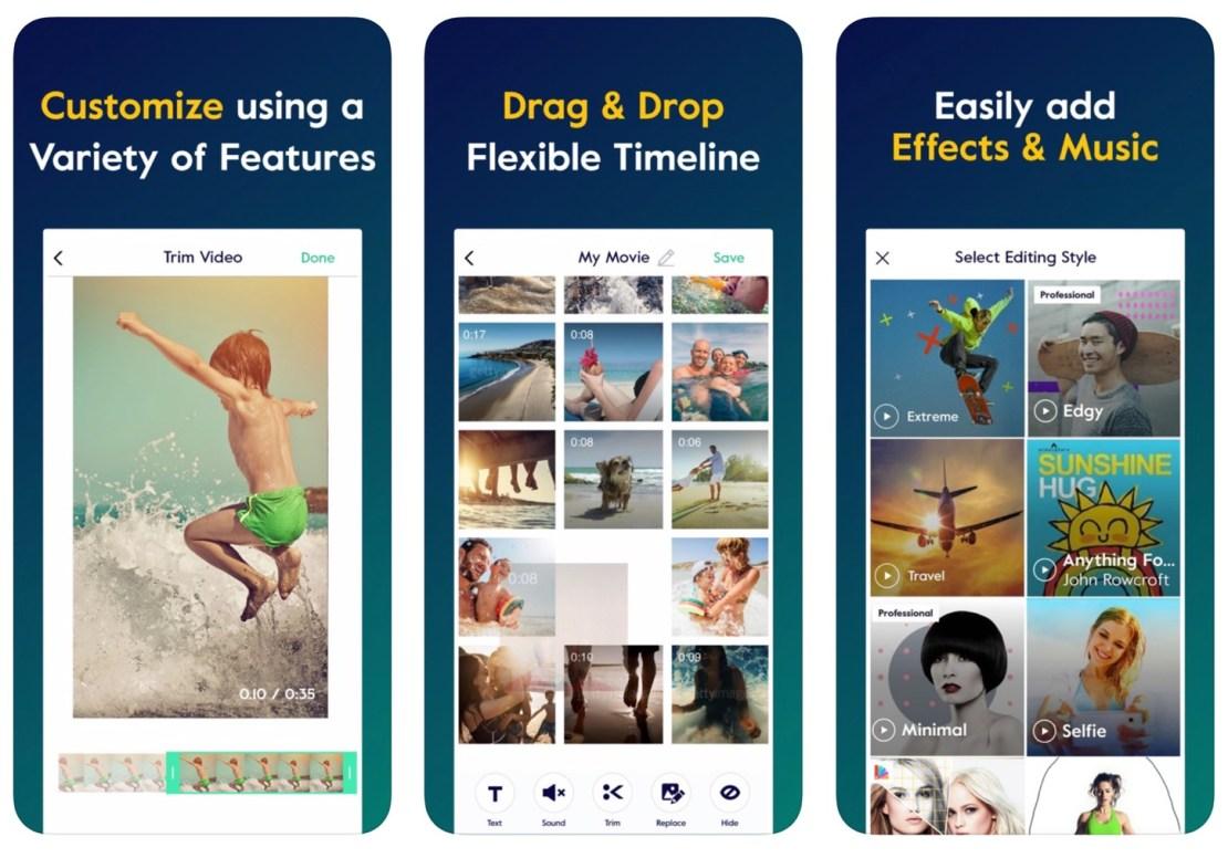 Zrzut ekranu z aplikacji Magisto Video Editor