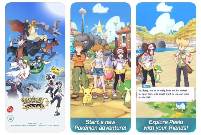 Screeny z gry Pokemon Masters