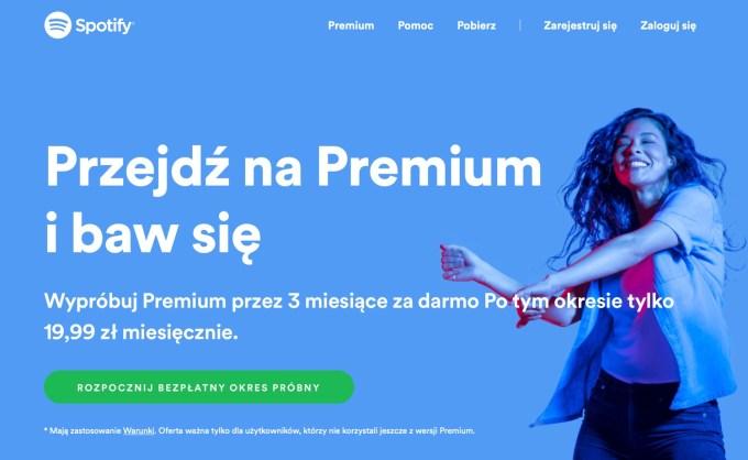 Spotify Premium 3 mies. za darmo dla nowych użytkowników