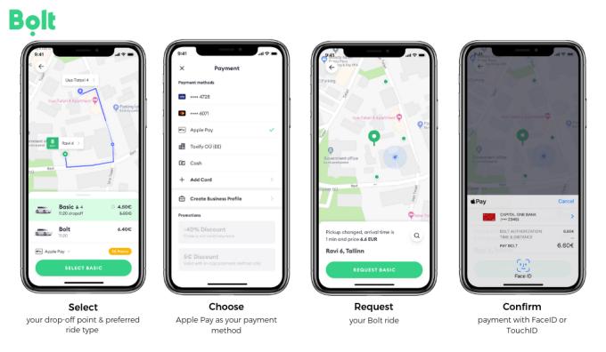 Instrukcja płatności Apple Pay w aplikacji Bolt