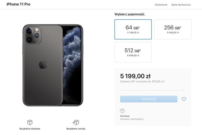 iPhone 11 Pro - ceny