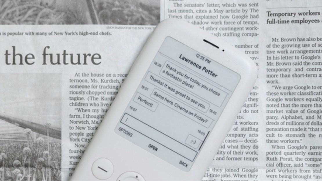 Ekran E Ink w telefonie Mudita Pure
