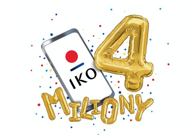 4 miliny instalacji aplikacji IKO