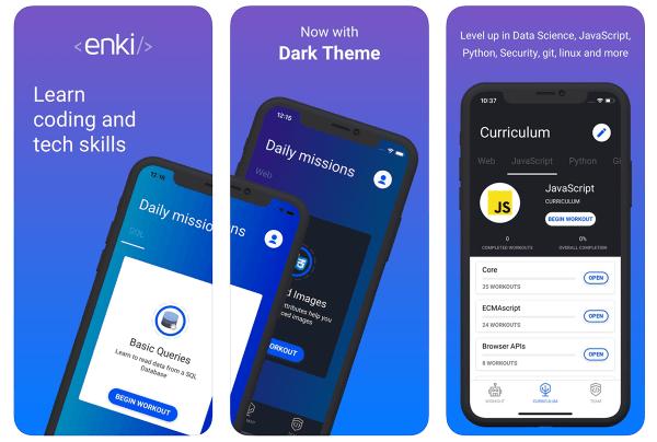 Nauka języków programowania z aplikacją mobilną Enki!