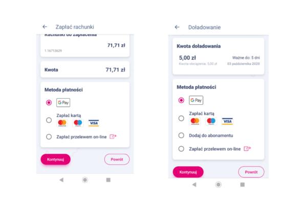 """W """"Mój T-Mobile"""" zapłacisz za fakturę i doładowania z Google Pay"""