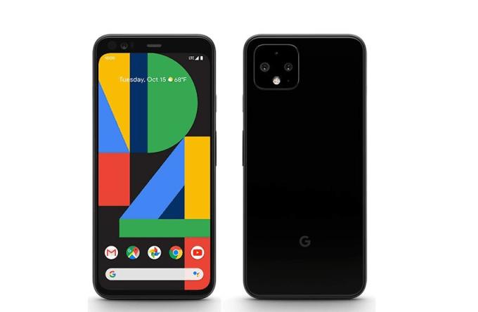Google Pixel 4 i funky tapeta P4